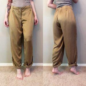 Soft Surroundings   100% Silk Roll Up Lounge Pants